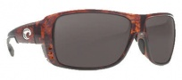 Costa Del Mar Double Haul Sunglasses Tortoise Frame Sunglasses - Gray / 580P
