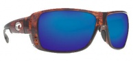 Costa Del Mar Double Haul Sunglasses Tortoise Frame Sunglasses - Blue Mirror / 400G