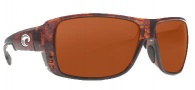 Costa Del Mar Double Haul Sunglasses Tortoise Frame Sunglasses - Copper / 580G