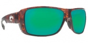 Costa Del Mar Double Haul Sunglasses Tortoise Frame Sunglasses - Green Mirror / 580G