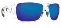Costa Del Mar Double Haul Sunglasses Crystal Frame Sunglasses - Blue Mirror / 580G