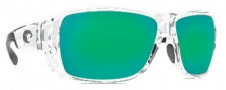 Costa Del Mar Double Haul Sunglasses Crystal Frame Sunglasses - Green Mirror / 580G