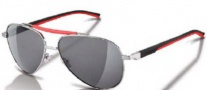 Tag Heuer Automatic Sun Vintage 0881 Sunglasses Sunglasses - 102 Black - Red Temples / Red Bar Palladium Frame / Outdoor Grey Lenses 
