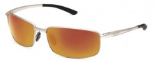 Bolle Benton Sunglasses Sunglasses - 11567 Satin Silver / Polarized TNS Fire