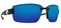Costa Del Mar Galveston Sunglasses - Black Frame Sunglasses - Blue Mirror / 580P
