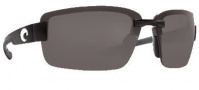 Costa Del Mar Galveston Sunglasses - Black Frame Sunglasses - Gray / 580P
