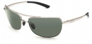 Bolle Quindaro Sunglasses Sunglasses - 11576 Shiny Silver / Polarized Axis 