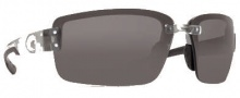 Costa Del Mar Galveston Sunglasses - Silver Frame Sunglasses - Gray / 580P