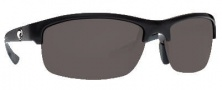 Costa Del Mar Indio Sunglasses - Black Frame Sunglasses - Gray / 580P