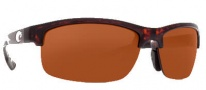 Costa Del Mar Indio Sunglasses - Tortoise Frame Sunglasses - Copper / 580P