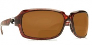 Costa Del Mar Isabela C-Mates Bifocals Sunglasses - Tortoise / Dark Amber 1.75 400P