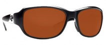 Costa Del Mar Las Olas Sunglasses- Black Frame Sunglasses - Copper / 580P