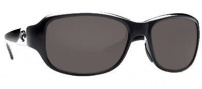 Costa Del Mar Las Olas Sunglasses- Black Frame Sunglasses - Dark Gray / 400G