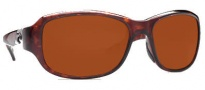 Costa Del Mar Las Olas Sunglasses - Tortoise Frame Sunglasses - Copper / 580P
