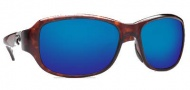 Costa Del Mar Las Olas Sunglasses - Tortoise Frame Sunglasses - Blue Mirror / 400G