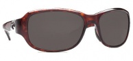 Costa Del Mar Las Olas Sunglasses - Tortoise Frame Sunglasses - Dark Gray / 400G