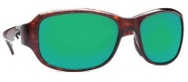 Costa Del Mar Las Olas Sunglasses - Tortoise Frame Sunglasses - Green Mirror / 400G