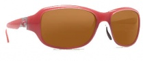 Costa Del Mar Las Olas Sunglasses - Coral White Frame Sunglasses - Dark Amber / 400G