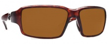 Costa Del Mar Peninsula Sunglasses - Tortoise Frame Sunglasses - Dark Amber / 400G