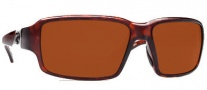 Costa Del Mar Peninsula Sunglasses - Tortoise Frame Sunglasses - Copper / 580G