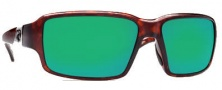 Costa Del Mar Peninsula Sunglasses - Tortoise Frame Sunglasses - Green Mirror / 580G