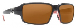 Costa Del Mar Peninsula Sunglasses - Black Coral Frame Sunglasses - Dark Amber / 400G