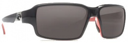 Costa Del Mar Peninsula Sunglasses - Black Coral Frame Sunglasses - Dark Gray / 400G