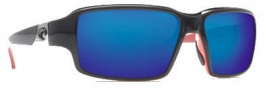 Costa Del Mar Peninsula Sunglasses - Black Coral Frame Sunglasses - Blue Mirror / 580G
