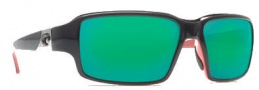 Costa Del Mar Peninsula Sunglasses - Black Coral Frame Sunglasses - Green Mirror / 580G