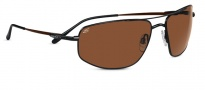 Serengeti Levanto Sunglasses Sunglasses - 7587 Satin Dark Brown / Drivers Polarized 