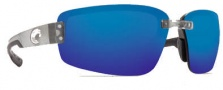 Costa Del Mar Seadrift Sunglasses - Silver Frame Sunglasses - Blue Mirror / 580P