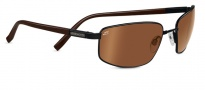 Serengeti Trapani Sunglasses Sunglasses - 7597 Satin Black / Gray Stripe / 555NM Polarized