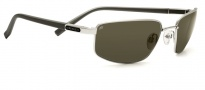 Serengeti Trapani Sunglasses Sunglasses - 7598 Shiny Gunmetal / Gray Stripe / Drivers Polarized