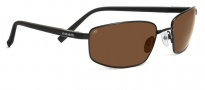 Serengeti Trapani Sunglasses Sunglasses - 7602 Shiny Silver / Black Ivory / 555NM Polarized