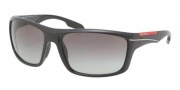 Prada Sport PS 01NS Sunglasses Sunglasses - 1B03M1 Demi Shiny Black / Gray Gradient