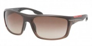 Prada Sport PS 01NS Sunglasses Sunglasses - GAJ6S1 Brown Demi Shiny  / Brown Gradient