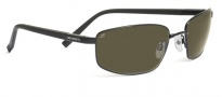 Serengeti Volterra Sunglasses Sunglasses - 7596 Shiny Silver Black Ivory / 555NM