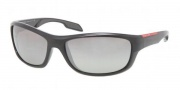 Prada Sport PS 04NS Sunglasses Sunglasses - 1AB4S1 Black / Gray Gradient Silver Mirror