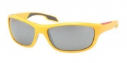 Prada Sport PS 04NS Sunglasses Sunglasses - GKD7W1 Yellow / Gray Silver Mirror