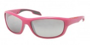 Prada Sport PS 04NS Sunglasses Sunglasses - MAA4S1 Fuxia / Gray Gradient Silver Mirror