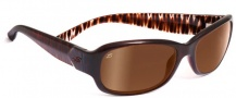 Serengeti Chloe Sunglasses Sunglasses - 7624 Bronze Zebra / Drivers Gold Polarized