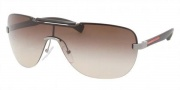 Prada Sport PS 52NS Sunglasses Sunglasses - 5AV6S1 Gunmetal / Brown Gradient