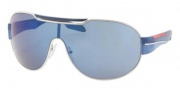 Prada Sport PS 56NS Sunglasses Sunglasses - 1BC9P1 Silver / Blue Mirror
