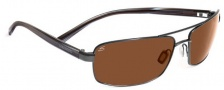 Serengeti San Remo Sunglasses Sunglasses - 7608 ShinyGunmetal Gray Stripe / Drivers