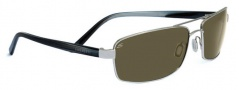 Serengeti San Remo Sunglasses Sunglasses - 7610 Shiny Silver / Smoke Stripe / 555NM