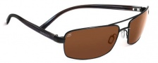 Serengeti San Remo Sunglasses Sunglasses - 7605 Satin Black / Gray Stripe / Drivers Polarized