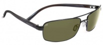 Serengeti San Remo Sunglasses Sunglasses - 7604 Satin Black / Gray Stripe / 555NM Polarized