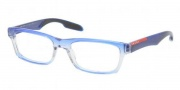 Prada Sport PS 07CV Eyeglasses Eyeglasses - JAT1O1 Striped Blue