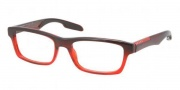 Prada Sport PS 07CV Eyeglasses Eyeglasses - JAV1O1 Striped Red