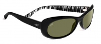Serengeti Bella Sunglasses Sunglasses - 7628 Shiny Black Zebra / 555NM